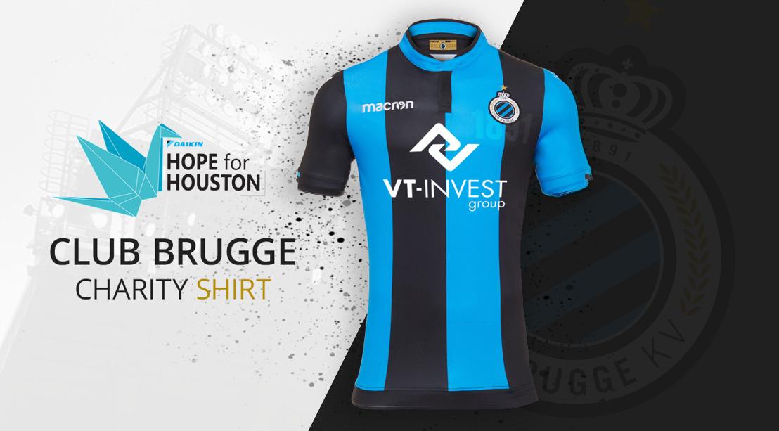 VT-Invest sur les maillots du Club de Bruges au profit de l'action Daikin 'Hope for Houston'
