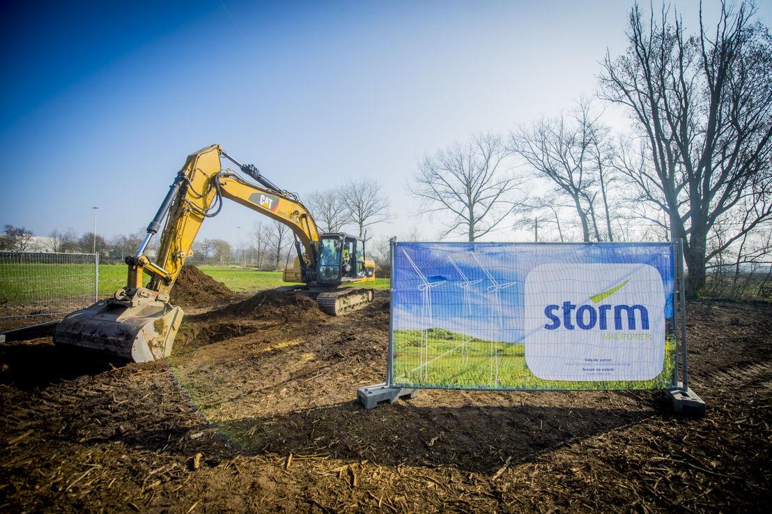 Eerste spadesteek Storm-windpark Geel