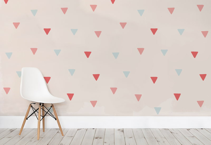 Soft Colour Triangles Wallpaper Mural