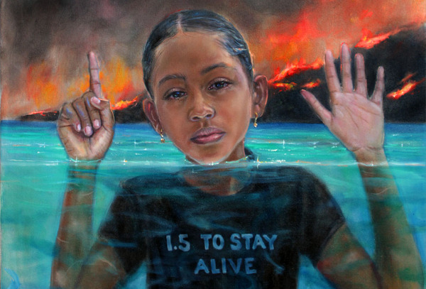 Preview: New iconic painting to support global climate justice campaign