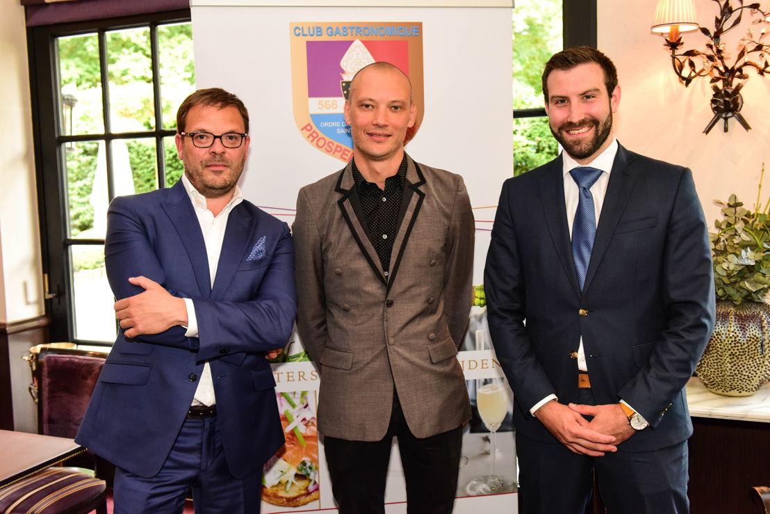 (v.l.n.r.) Finalisten Olivier Dereu, Andy De Brouwer en Maxime Verstuyft
