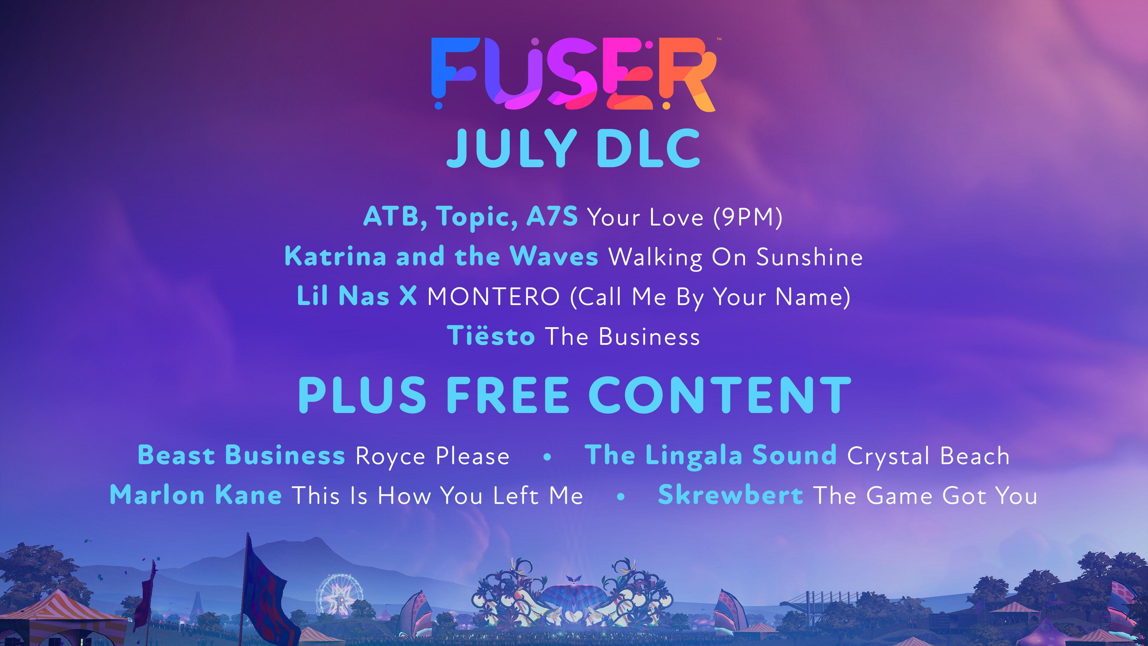 Huit nouveaux morceaux, dont quatre gratuits, arrivent en téléchargement au mois de juillet.