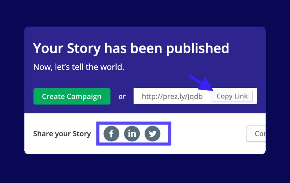 Help: Sharing Stories on social media