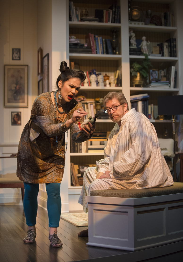 Carmela Sison and R.H. Thomson in Vanya and Sonia and Masha and Spike by Christopher Durang / Photos by David Cooper