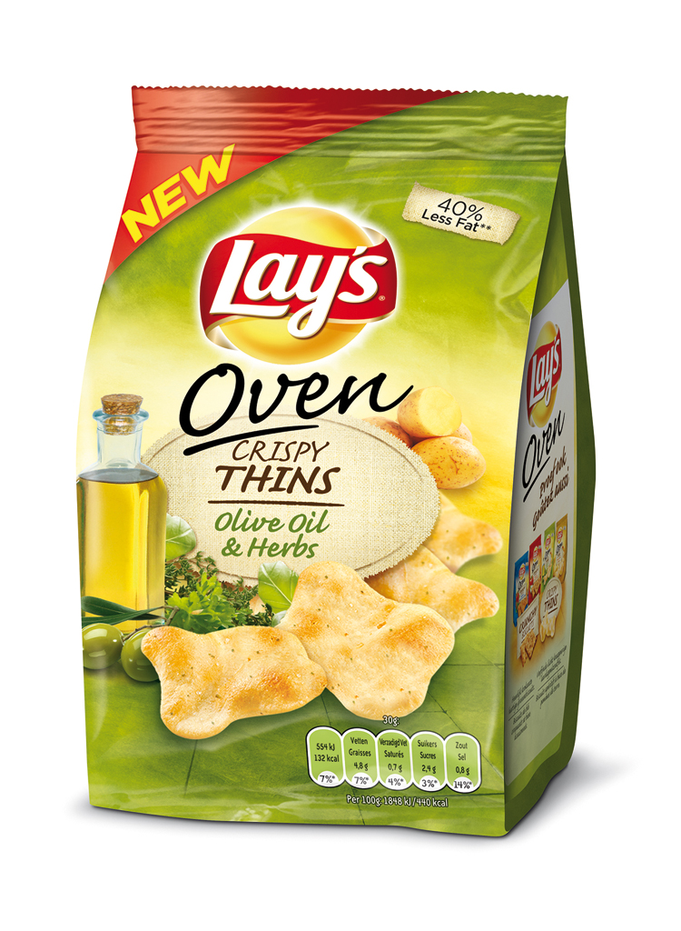 Lay's Oven Crispy Thins Olive Oil & Herbs