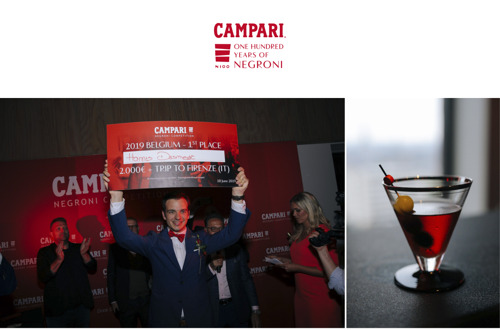 Preview: Hannes Desmedt wint Campari Negroni competition met originele Negroni Vitis Potròn!