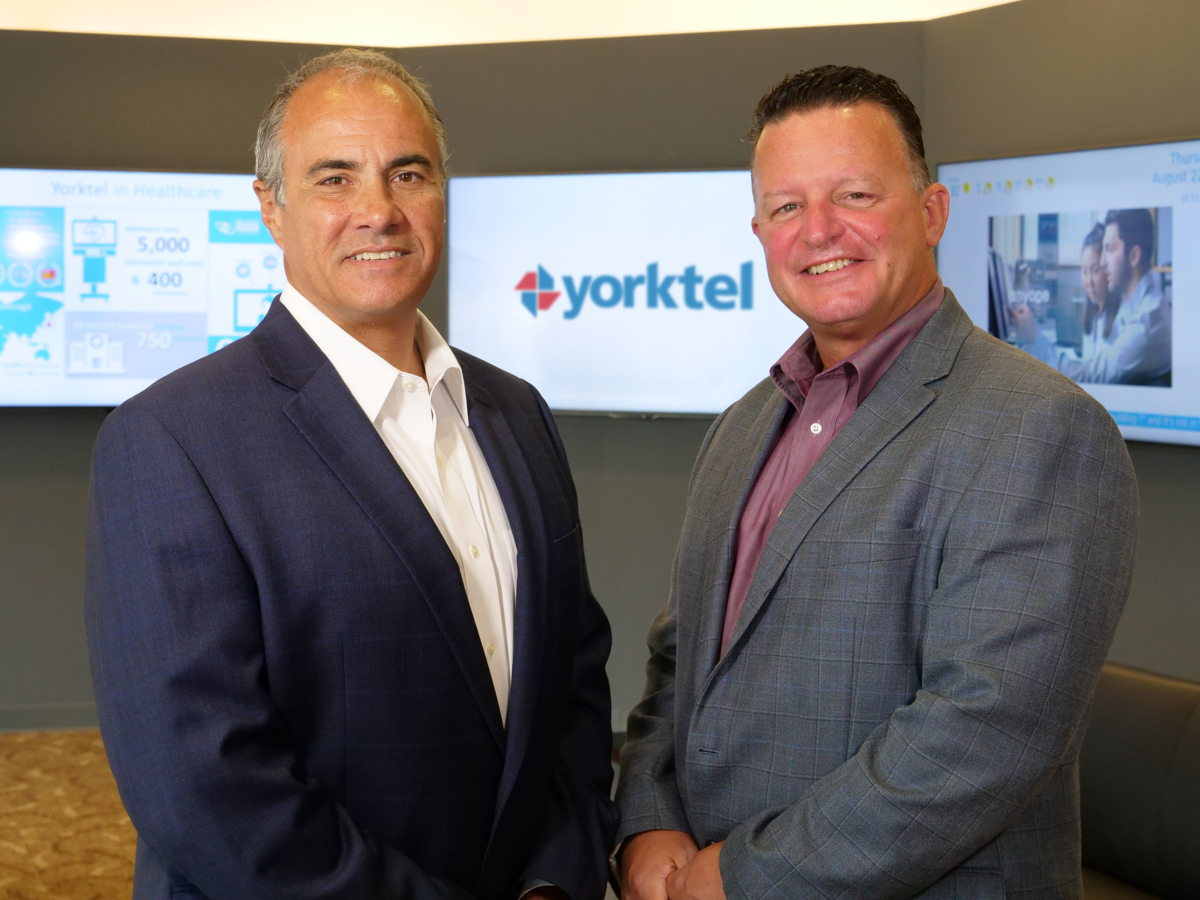 Yorktel CEO Ron Gaboury (right) and Ken Scaturro, Yorktel President & COO