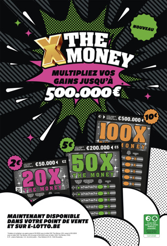 La Loterie Nationale et TBWA lancent X The Money, un nouveau jeu à gratter