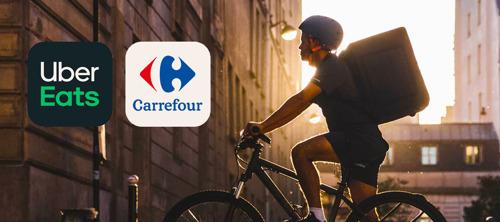 Primeur in België: Carrefour werkt samen met Uber Eats voor thuisbezorging van boodschappen