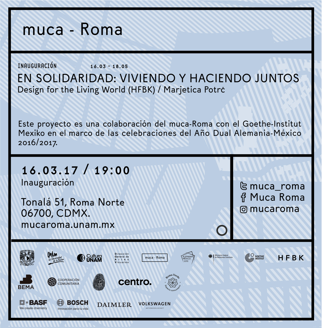 Invitación: Inauguración exposición En Solidaridad: Viviendo y haciendo juntos.
