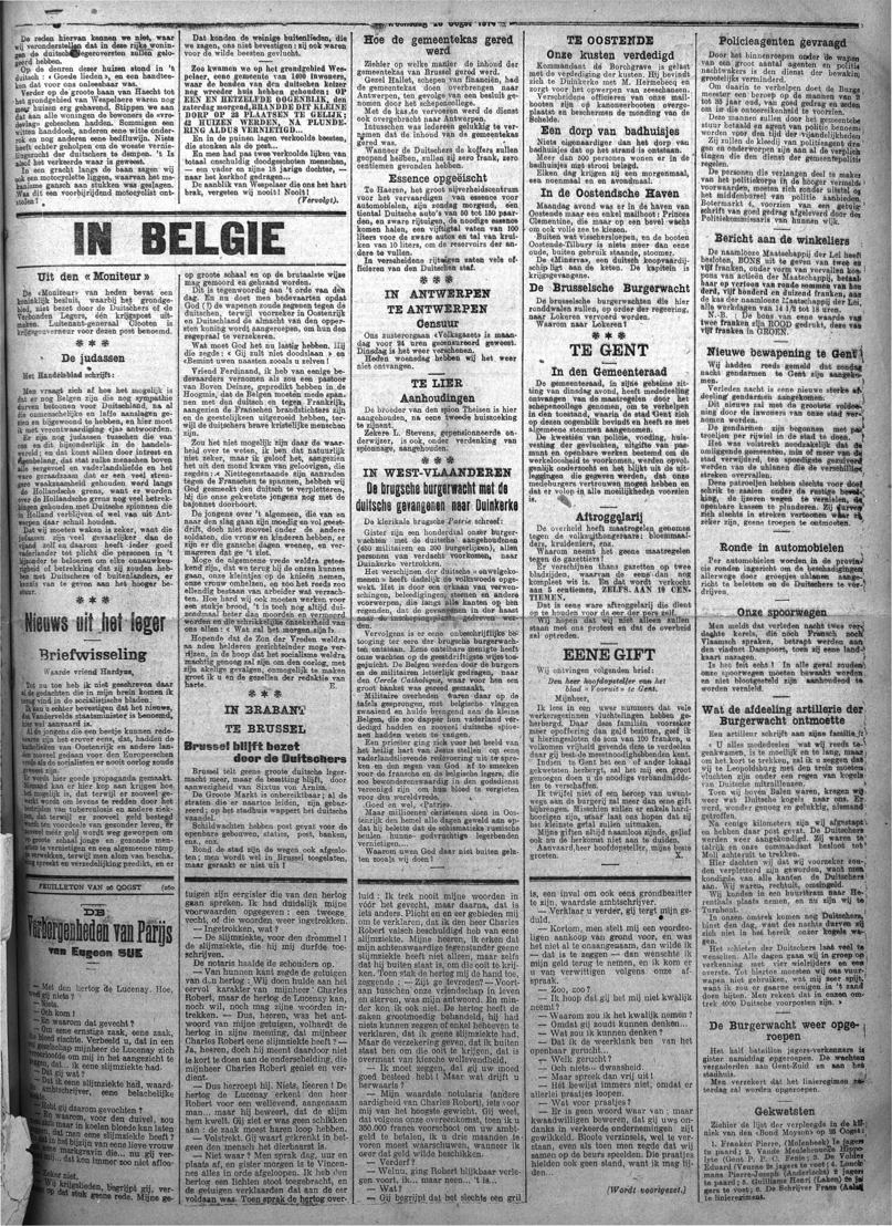 Vooruit, 26 augustus 1914