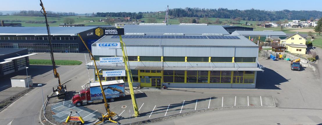 HODEL Betriebe AG nieuw Nooteboom Center voor service & onderdelen voor Zwitserland