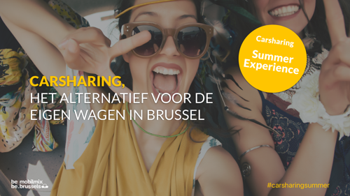 """Persuitnodiging: hele zomer """"Carsharing Summer Experience"""" in Brussel"""