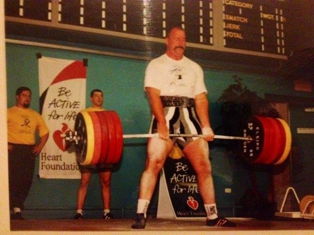 Australian Story<br/>Grant Edwards weight lifting.