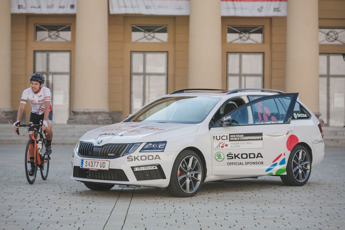 ŠKODA AUTO is the official sponsor of the 2018 UCI Road World Championships