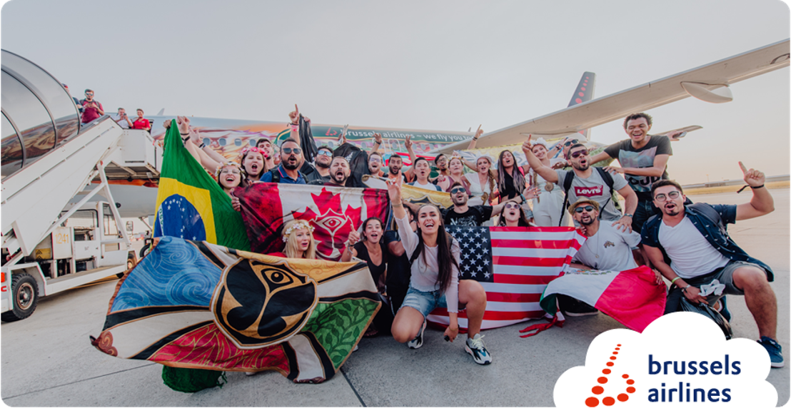 Tomorrowland party flights (photo + video)