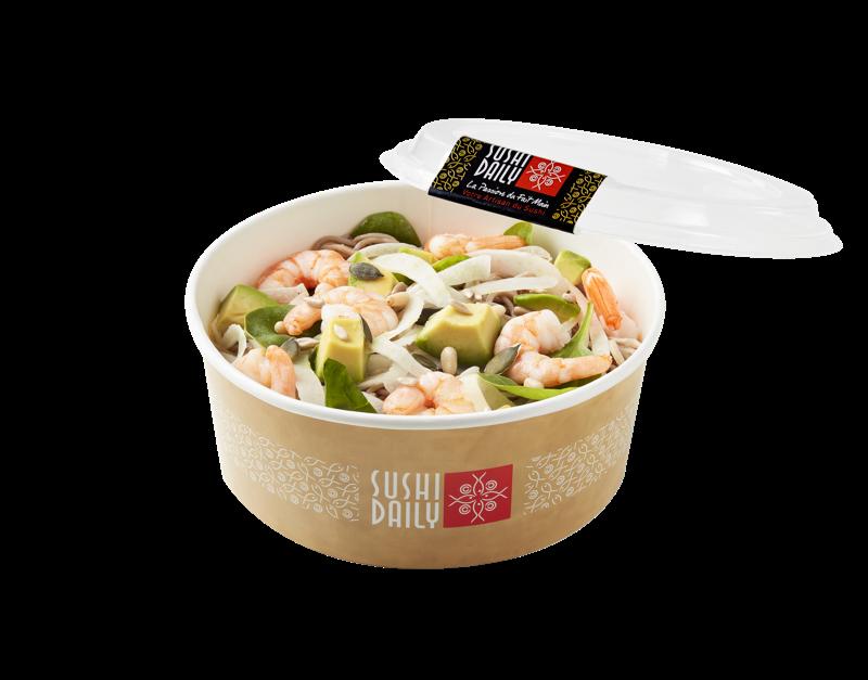 Salad Soba Prawns