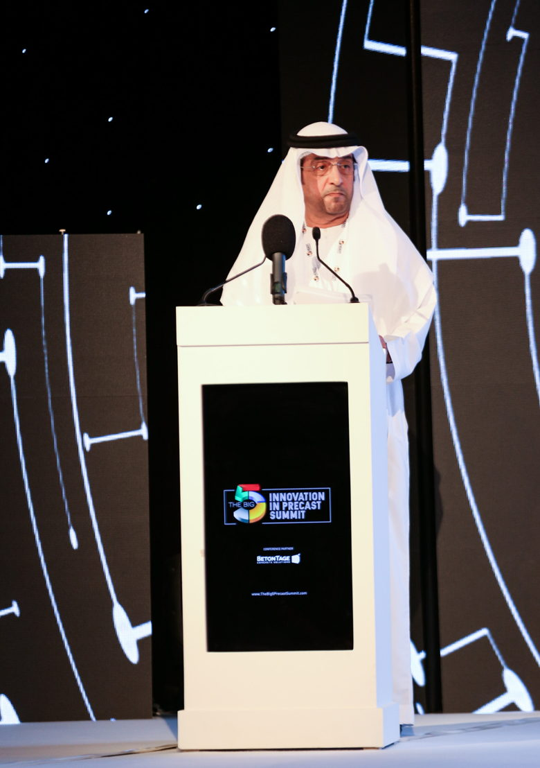 "H.E. Eng. Hassan Jumaa Al-Mansoori, the Undersecretary of the Ministry of Infrastructure Development, inaugurated the first edition of ""The Big 5 Innovation Precast Summit"" on November 26"