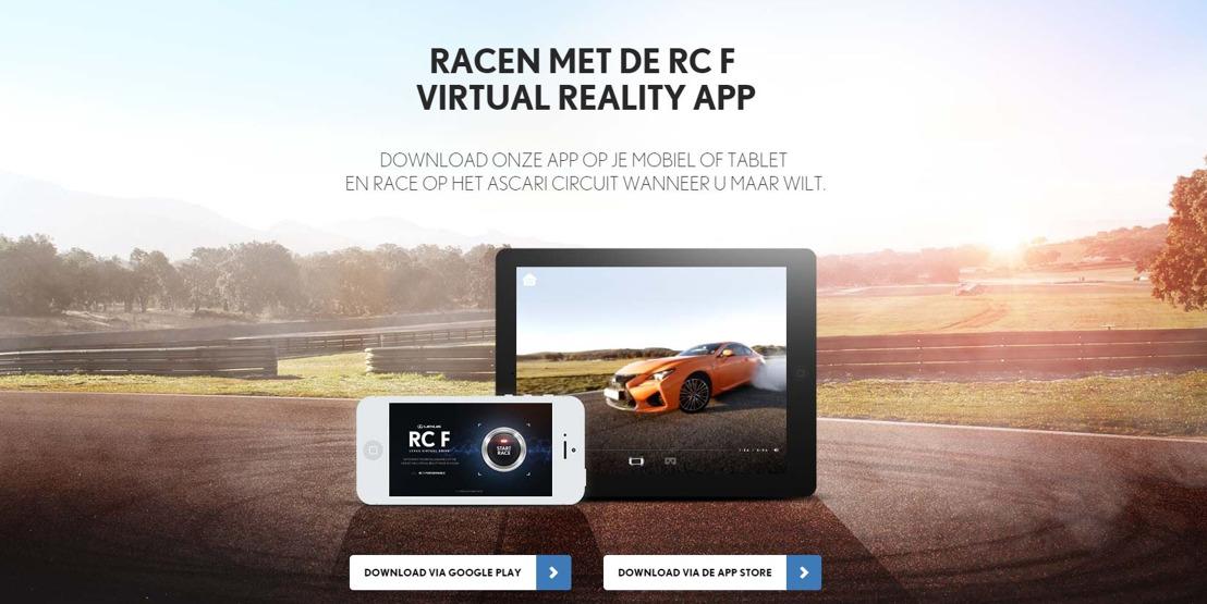 MAAK U KLAAR OM TE RACEN MET DE NIEUWE LEXUS RC F 'VIRTUAL REALITY DRIVING EXPERIENCE'