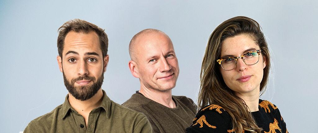 Korneel De Clercq, Sven Speybrouck en Babette Moonen © Radio 1