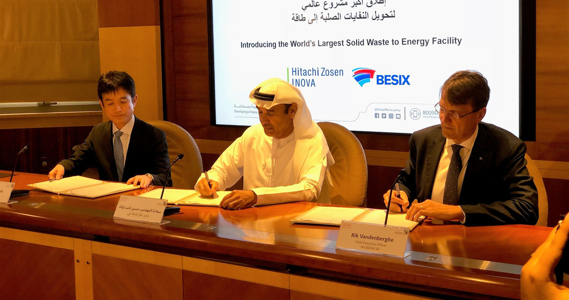 BESIX to build one of the world's largest thermal waste recycling plants in Dubai
