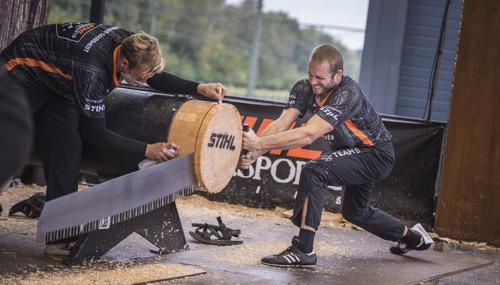 De Belg Koen Martens wint opnieuw het STIHL TIMBERSPORTS® Benelux kampioenschap 2020