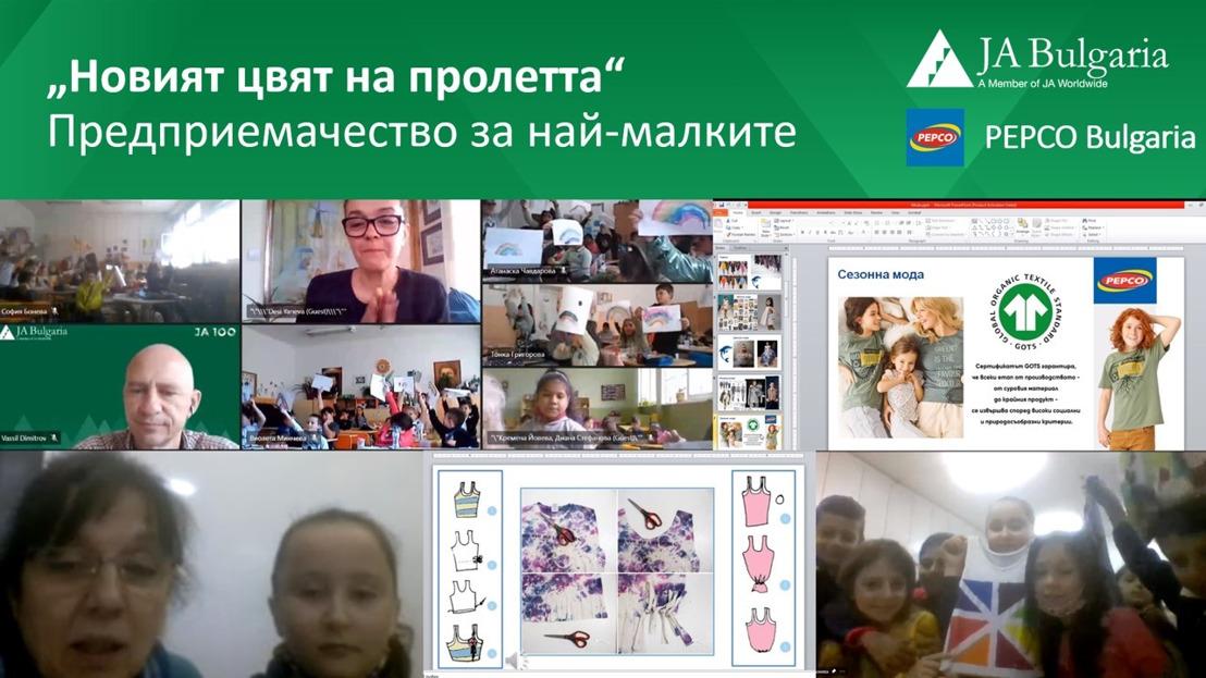"""Деца от цяла България участват в """"Новият цвят на пролетта"""" 2021 – творческа образователна програма на Джуниър Ачийвмънт"""
