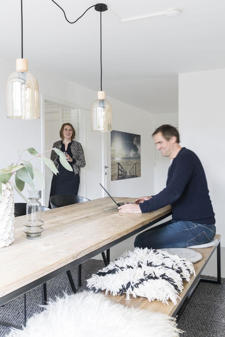 Mascha en haar man Hugo van Nordic Living en Pure Wood Design