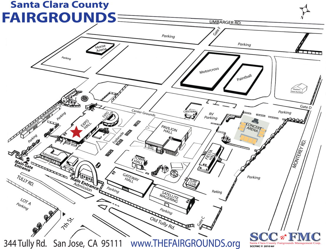 Santa Clara County Fairgrounds Map: Expo Hall