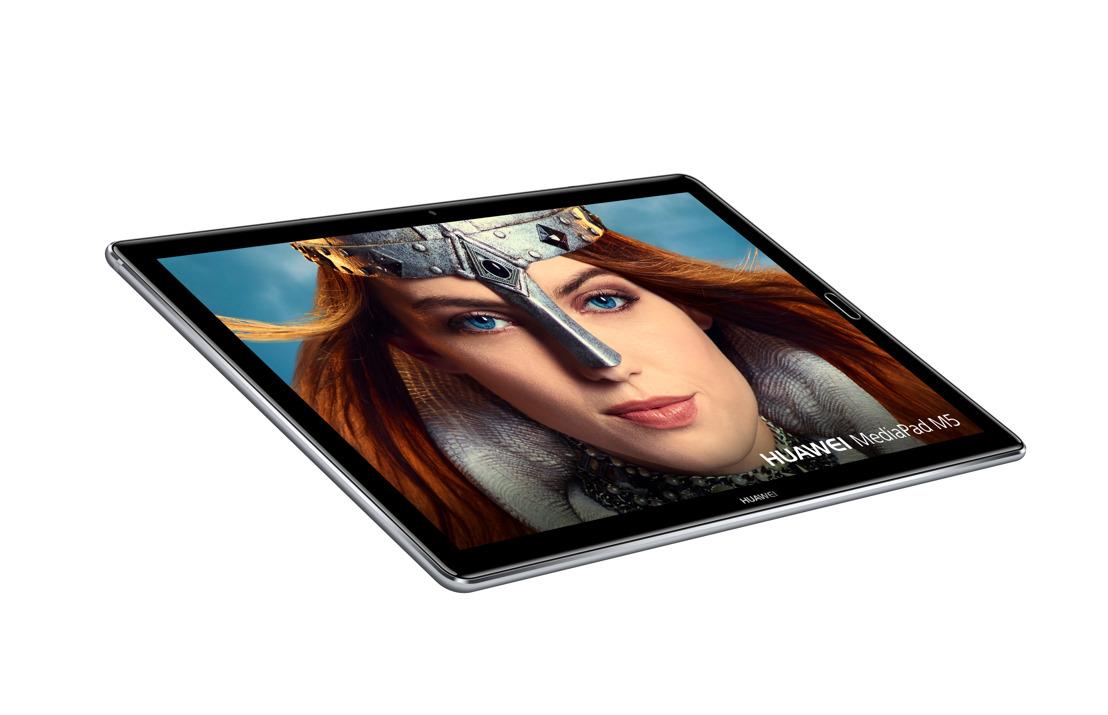 Huawei annonce la date de sortie de son nouveau produit phare, le HUAWEI P20, et le lancement d'une nouvelle série de tablettes, la HUAWEI MediaPad M5, lors du Mobile World Congress