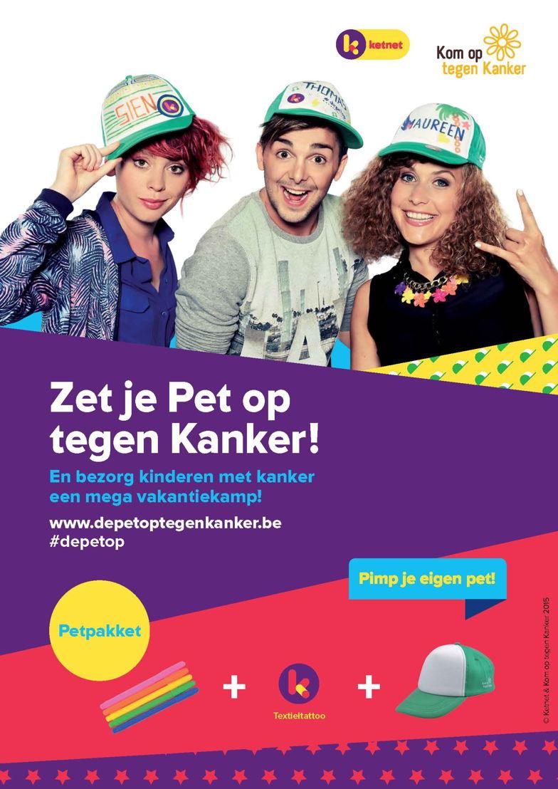 De affiche van De Pet op tegen Kanker