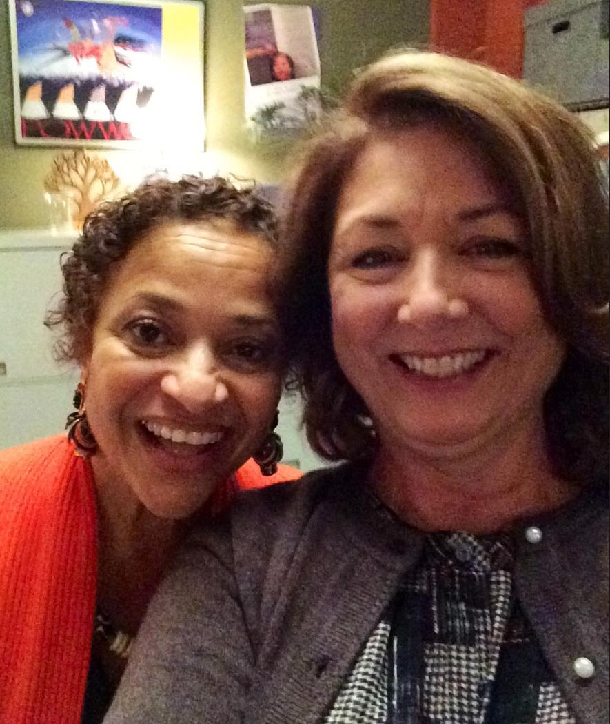 Director Debbie Allen with Maggie.
