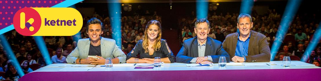Giovanni Kemper, Laura Tesoro, Koen Crucke én Gert Verhulst  zijn de juryleden bij de audities van Ketnet Musical