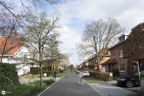 Huttelaan heraangelegd met nieuwe voetpaden en rijbaan, groenvakken en bomen