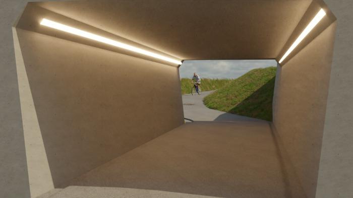 Nieuwe fietstunnel en aanleg fietssnelweg in Asse