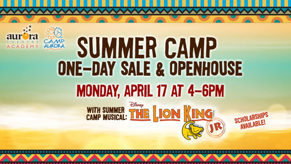 Summer Camp One-Day Sale & Open House