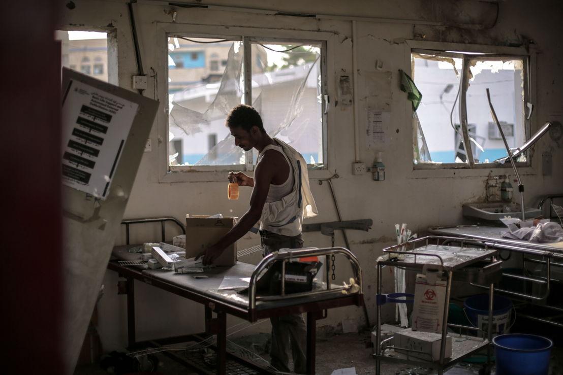 Le 15 août, l'hôpital d'Abs au Yémen a été bombardé. 19 personnes ont été tuées. © MSF