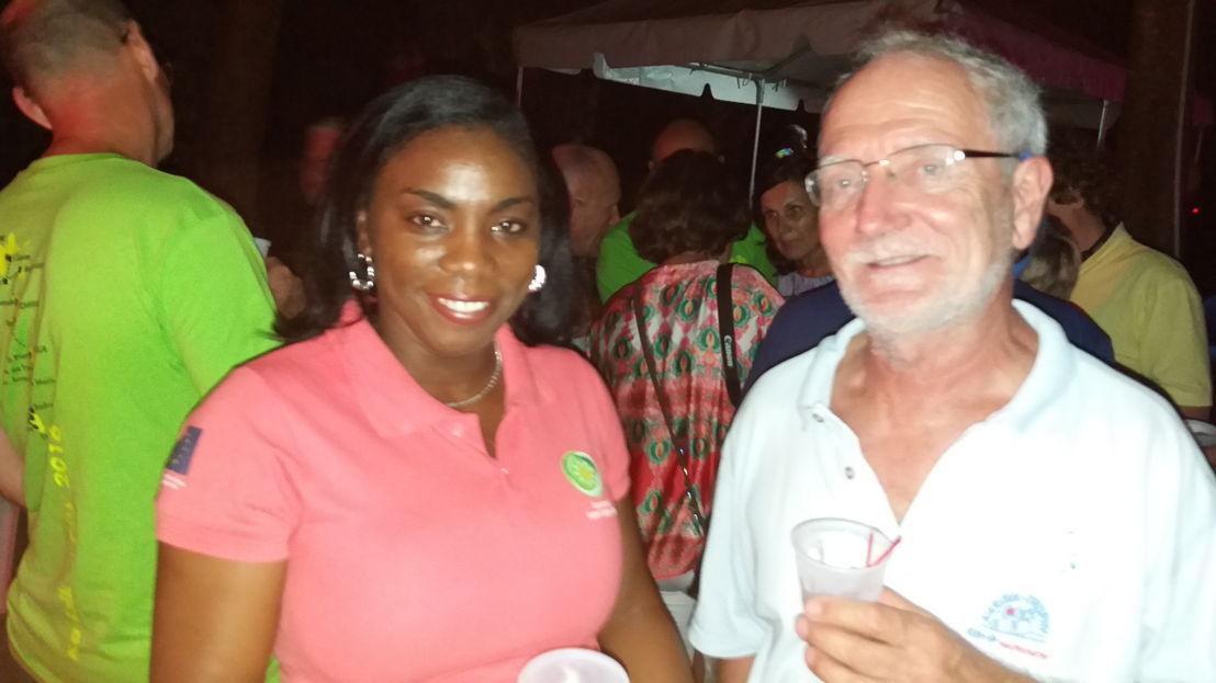Dr. Lorraine Nicholas and Mr. Hartmut Holtmann, Managing Director of the Karabik Trophy Regatta