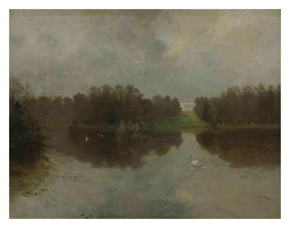 Edouard Huberti, The Castle's Pond at De Warande in Tervuren, vzw De Vrienden van de School van Tervuren © Isabelle Arthuis