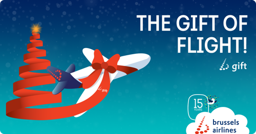 Brussels Airlines puts flights under the Christmas tree