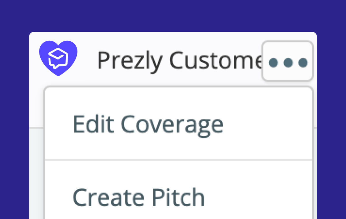 Add your Coverage to Campaigns and Pitches