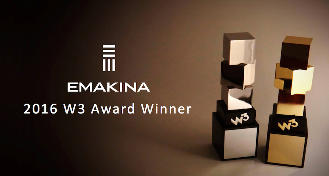 Emakina remporte quatre W3 Awards