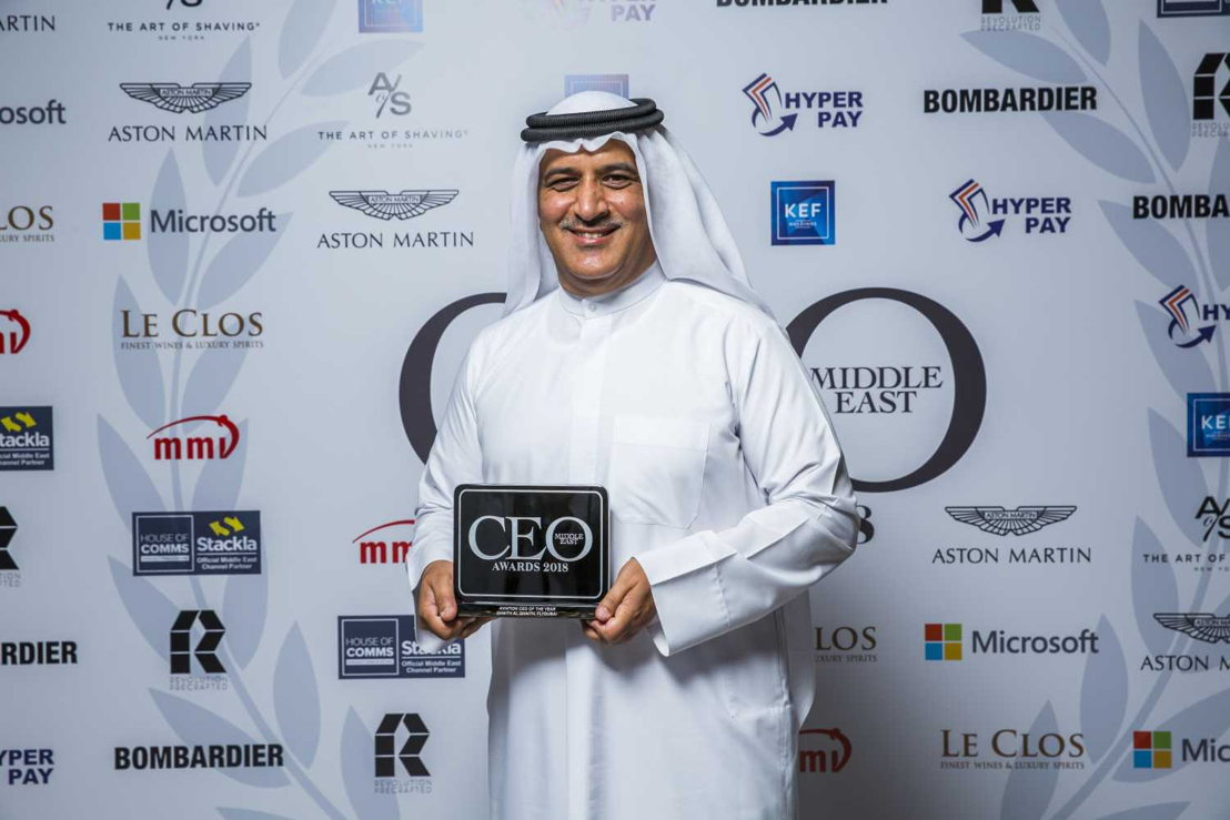 On behalf of the efforts and hard work of the flydubai team, Ghaith Al Ghaith, received the 'Aviation CEO of the Year' award at this year&#039;s CEO Middle East Awards.<br/><br/>Picture courtesy of ITP Media Group