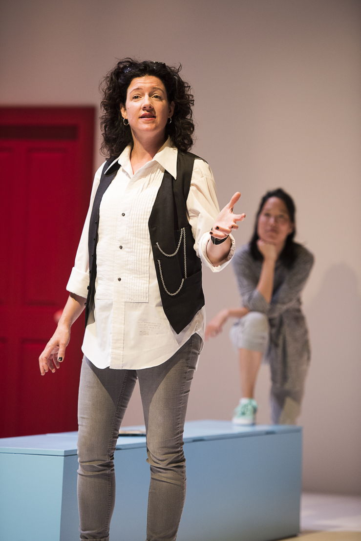 Sarah Donald (foreground) and Yumi Ogawa star in Mom's the Word / Photos by Emily Cooper