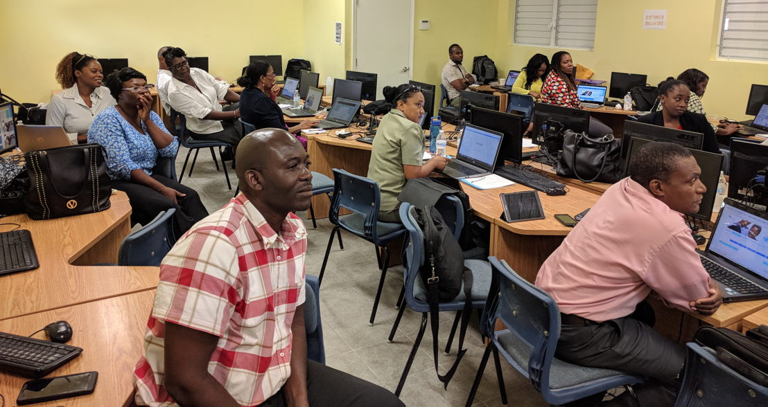 Educators participate in the Turks and Caicos Islands' training.