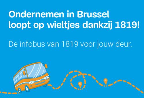 De Infobus van 1819: de nieuwe buurtdienst van hub.brussels gaat vanaf vandaag op weg naar de Brusselse ondernemers