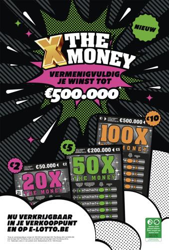 Nationale Loterij en TBWA lanceren nieuw kraslot X The Money