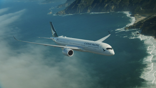Cathay Pacific's erster Airbus A350 erreicht Hong Kong