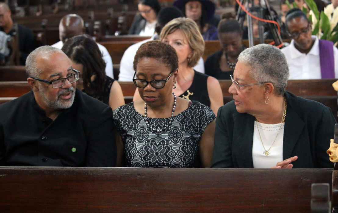 Dr. Jules attends funeral service of Sir Derek Walcott.