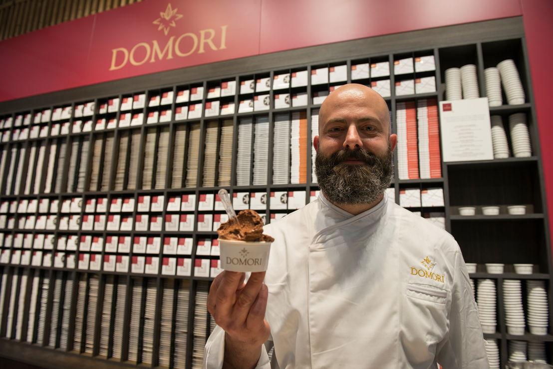 Domori, gelato al cioccolato e Simone De Feo